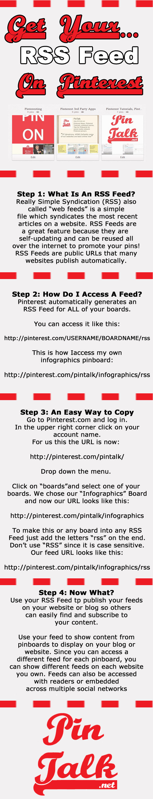 Pinterest RSS Feed Infographic