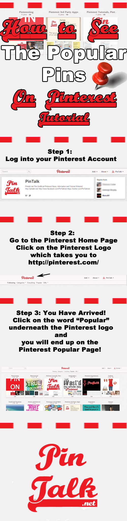 Pinterest Tutoiral View Popular Pins