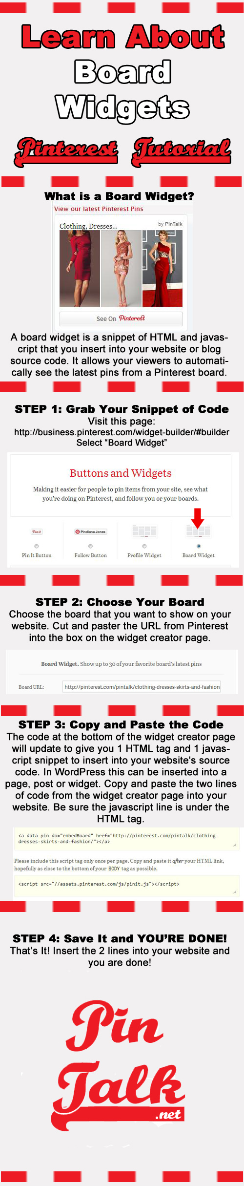 Tutorial Pinterest Board Widgets