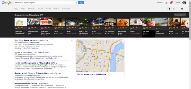 Google Local Carousel Search Result