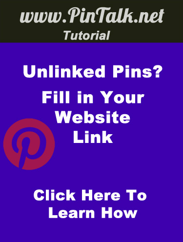 Pinterest Pin Fill in URL