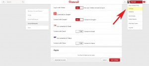 Pinterest-Settings