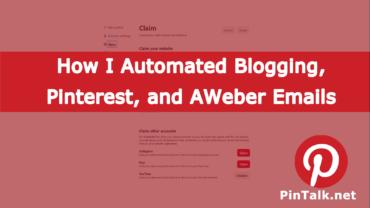 Blog Pinterest AWeber Automate