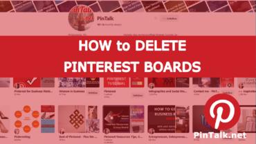 Delete Pinterest Board