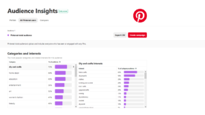 Pinterest Audience Insights Data