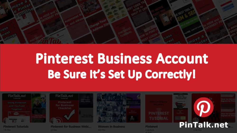 Pinterest Business Account Set Up