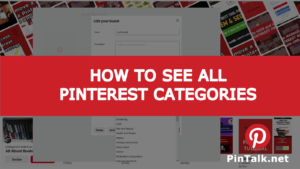 Pinterest Categories All