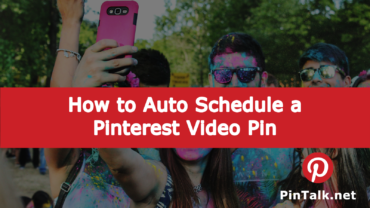 Pinterest Schedule Video Pin
