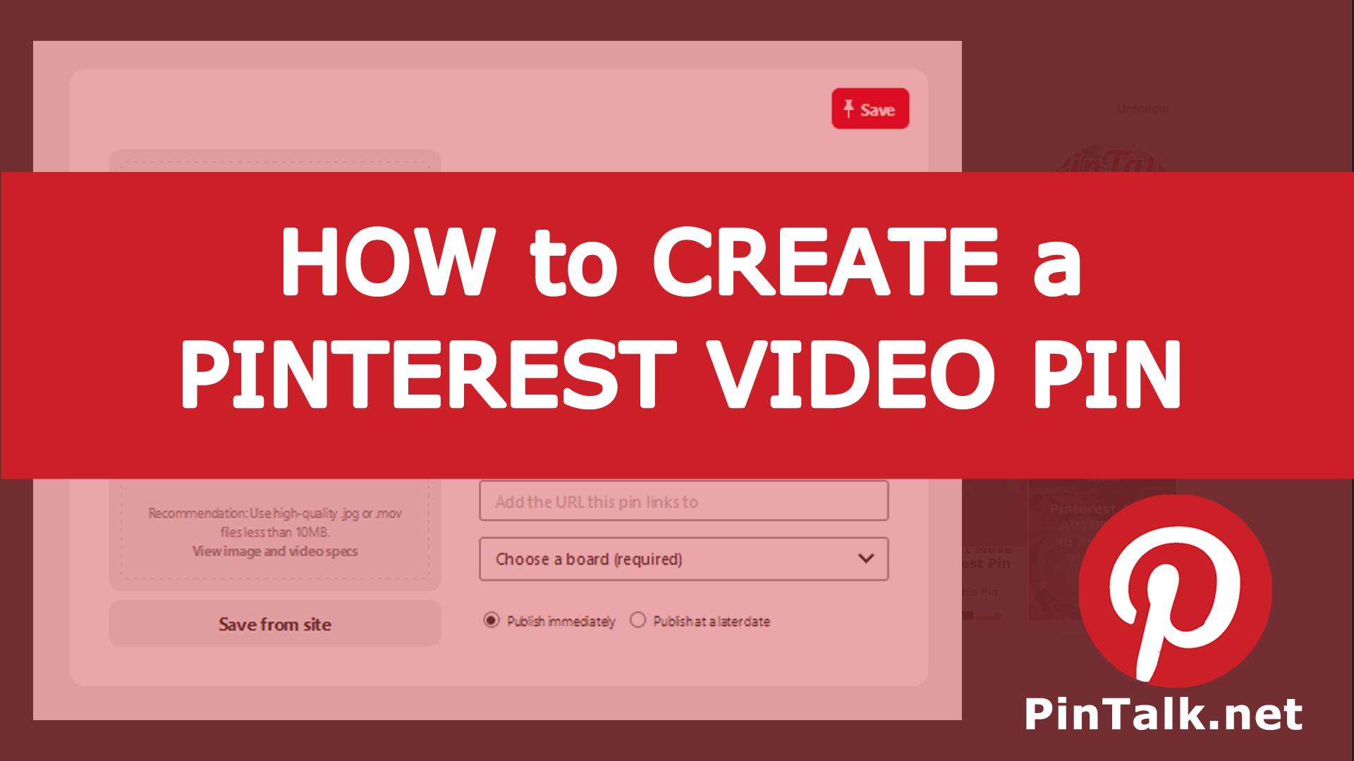 Pinterest Video Pin