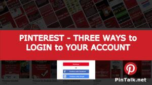 Pinterest Ways Login Account
