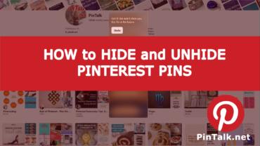 Unhide Hide Pinterest Pins